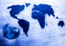 Map of the world Royalty Free Stock Image