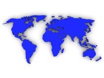 Map of World Stock Photo