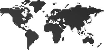 The map of the world. Made of coreldraw Royalty Free Stock Photo