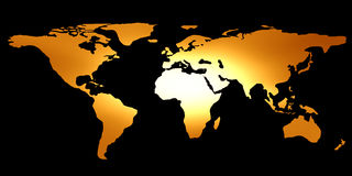 Map of the world Stock Image