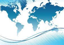 Map of world. Vector illustration Royalty Free Stock Image