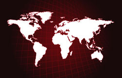 Map of the world Royalty Free Stock Images