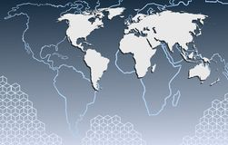 Map of the world. Vector illustration of a world map Royalty Free Stock Photo
