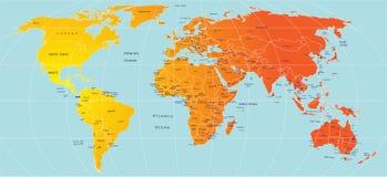 Map of world Stock Image