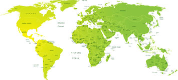 Map of world Stock Photos