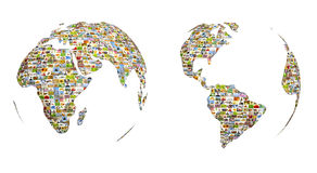Map of the world. From set of photos Royalty Free Stock Photos