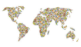 Map of the world. From set of photos Royalty Free Stock Image