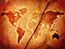 Map of the World. On the Leaf royalty free stock photos