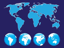 Map of the world. On the abstract background vector illustration