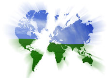 Map of the world Royalty Free Stock Photo