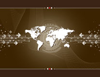 Map of the world and arrows Royalty Free Stock Image