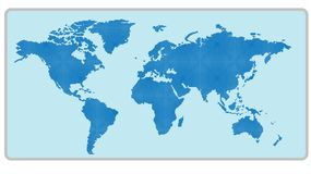 Map of the World with background - blue Royalty Free Stock Images