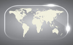 Map of the world. Beautiful Background world Map in glass Royalty Free Stock Photo