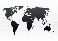 Map of world binary background Stock Image