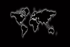 Map of world in black Stock Photography