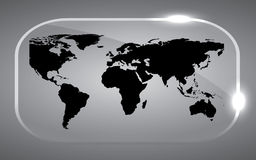 Map world Black Stock Photography