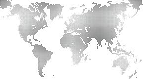 Map world. Black map world on the white background Royalty Free Stock Photography