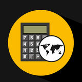 Map world business calculator design Royalty Free Stock Photo