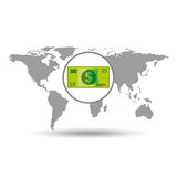 Map world business money bill design Stock Photo