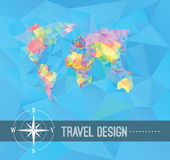 Map of the world consisting of geometric shape polygon. Stock Images