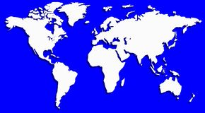 Map of the world Royalty Free Stock Photos
