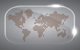 Map world Dot black Stock Image