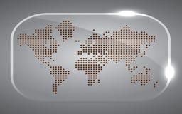Map world Dot black. Beautiful Vector illustration of Map world Dot black in glass Stock Image