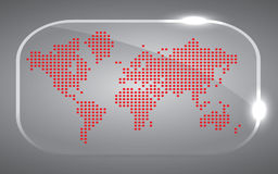 Map world Dot Red Stock Photography