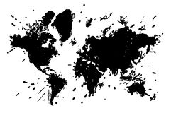 Map of the world in the form of blots Royalty Free Stock Image