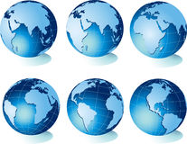 Map of world, globe Royalty Free Stock Photo