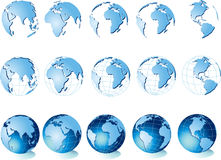 Map of world, globe Stock Photos