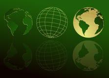 Map of world, globe Royalty Free Stock Image