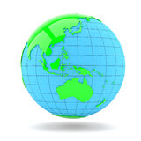 Map of the world globe with shadow Stock Photos