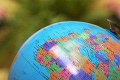 World or globe. Map world or globe, travel and education stock image