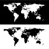 Map world icon great for any use. Vector EPS10. Royalty Free Stock Images