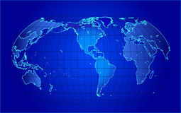 Map of the world -  illustration Royalty Free Stock Photo