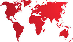 Map of the world illustration Stock Image