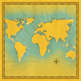 Map of the world illustration Royalty Free Stock Photos