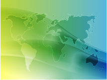 Map of the world illustration Royalty Free Stock Photography