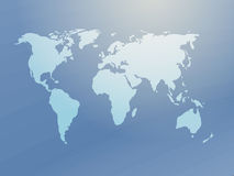 Map of the world illustration Royalty Free Stock Images