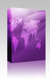 Map of the world illustration box package Stock Image