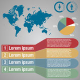 Map world infographic Royalty Free Stock Images