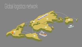 Map world isometric concept. 3d flat illustration Royalty Free Stock Photos