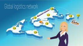 Map world isometric concept. 3d flat illustration Royalty Free Stock Image