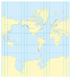 Map of the world Mercator America Stock Photography
