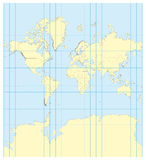 Map of the world Mercator Royalty Free Stock Image