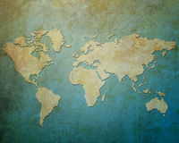 Map world on paper background Royalty Free Stock Photography