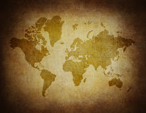Map world on paper background Stock Photography