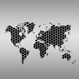 Steel MAP of the World Royalty Free Stock Photo
