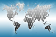 Steel MAP of the World Royalty Free Stock Photography